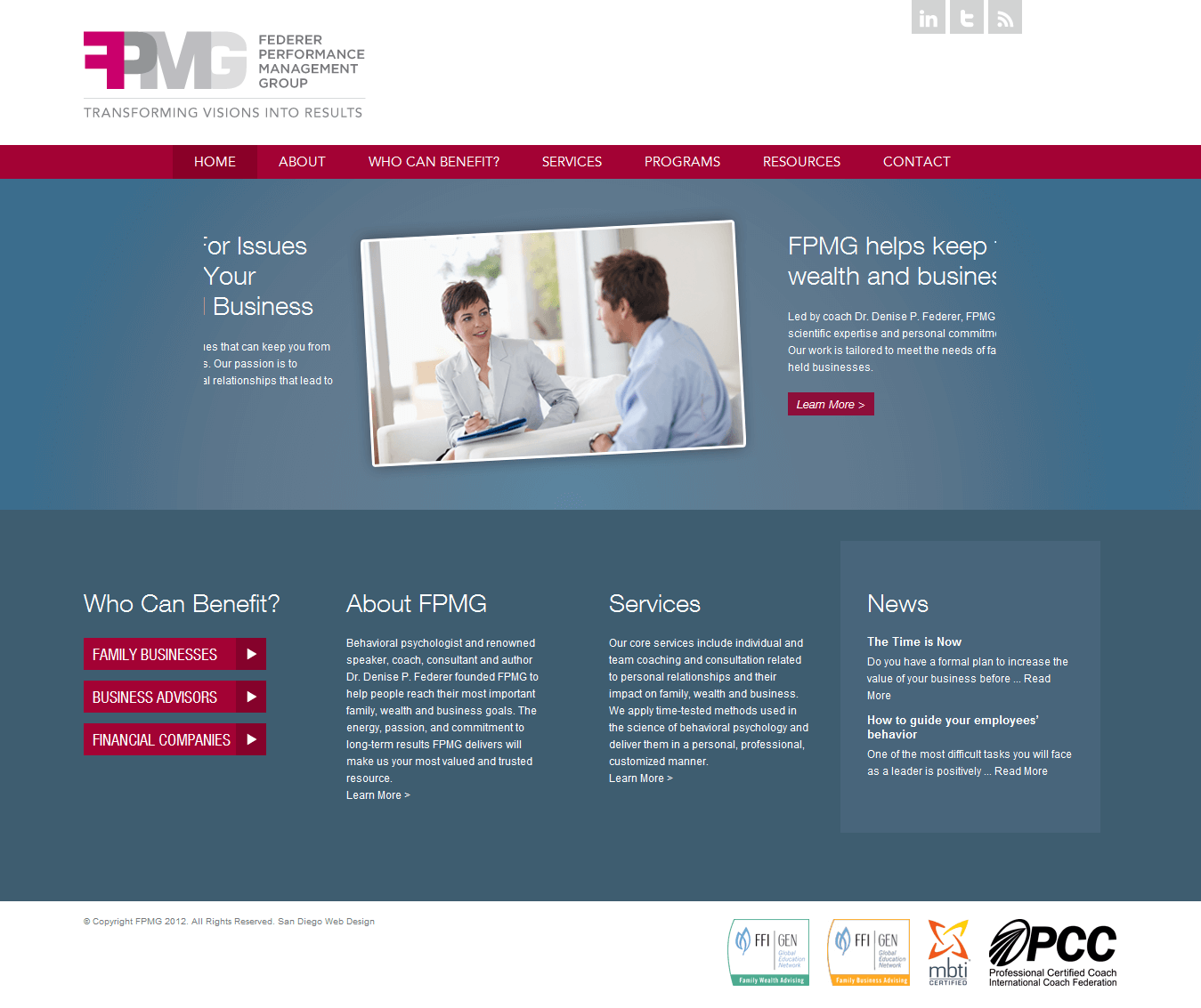 FPMG Website Screenshot