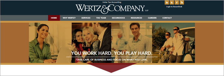 New Client Website Design: Wertz & Co