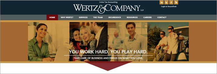 New Client Website Design: Wertz & Co