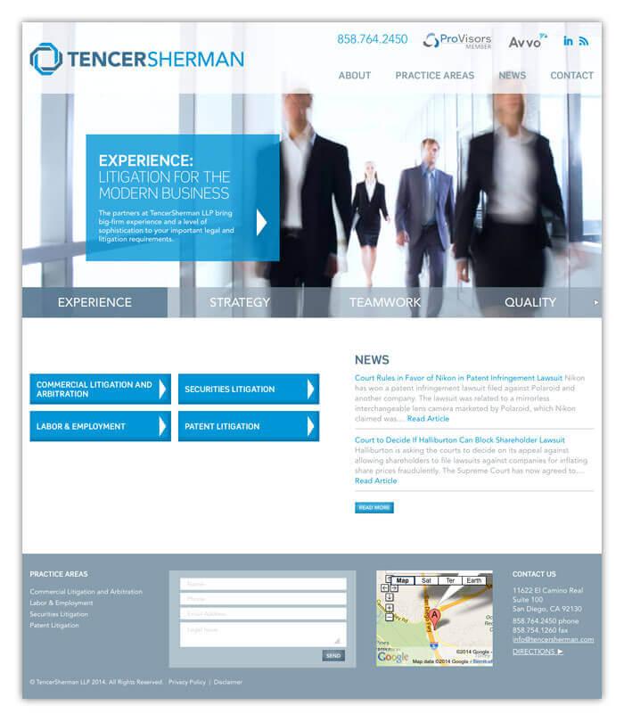 TencerSherman LLP Website