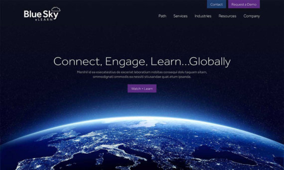 Blue Sky eLearn website hero header v1