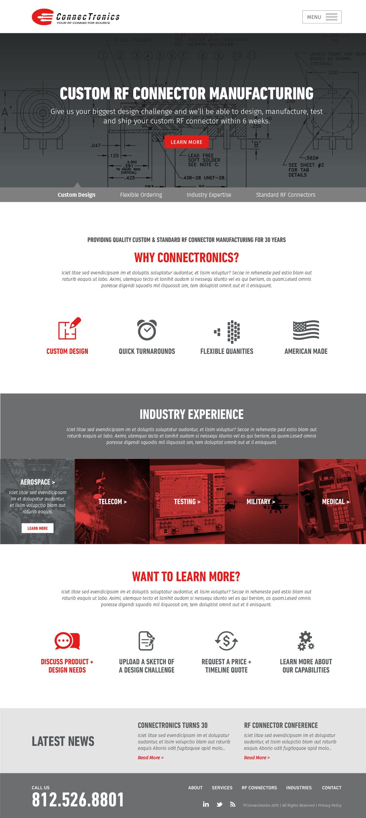 Industrial manufacturing website design manufacturer for Industrial design sites