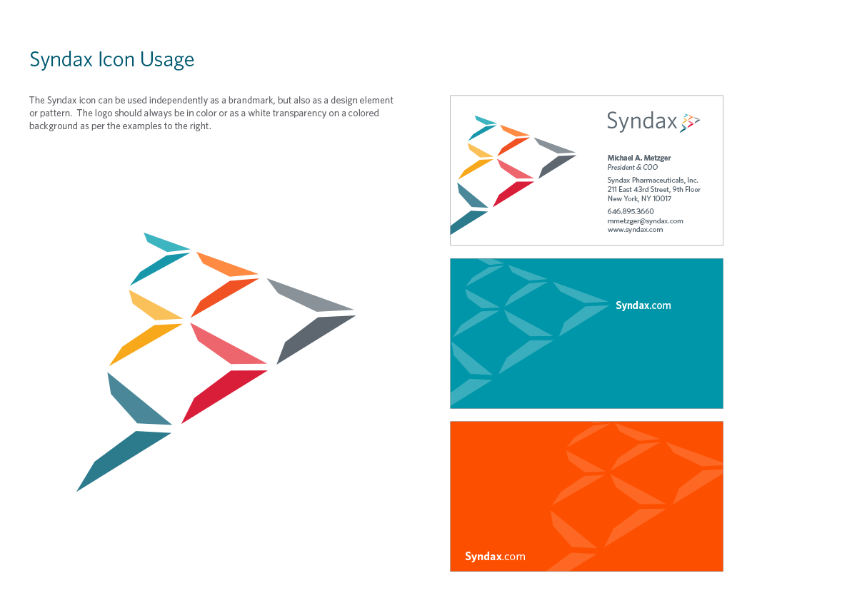 Syndax brand style guide icon example
