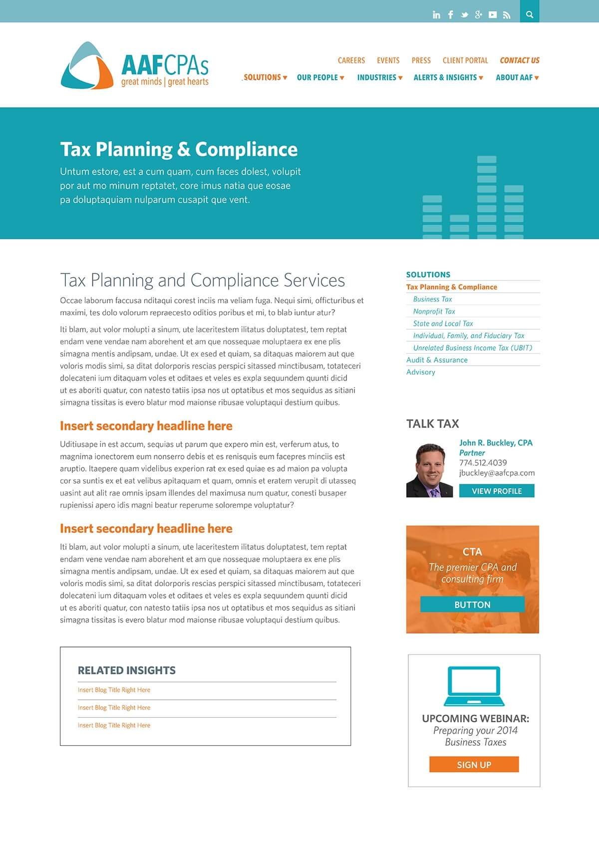 AAFCPAs tax planning and compliance page