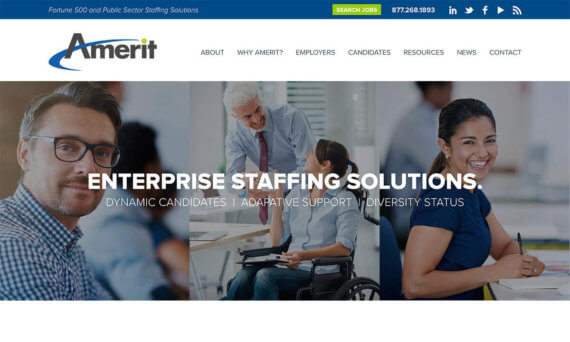 Amerit website home page v2