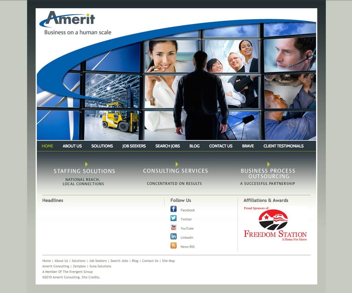 Amerit website before v3