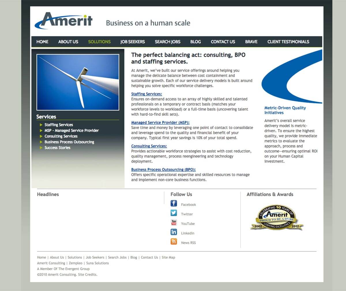 Amerit website before v4