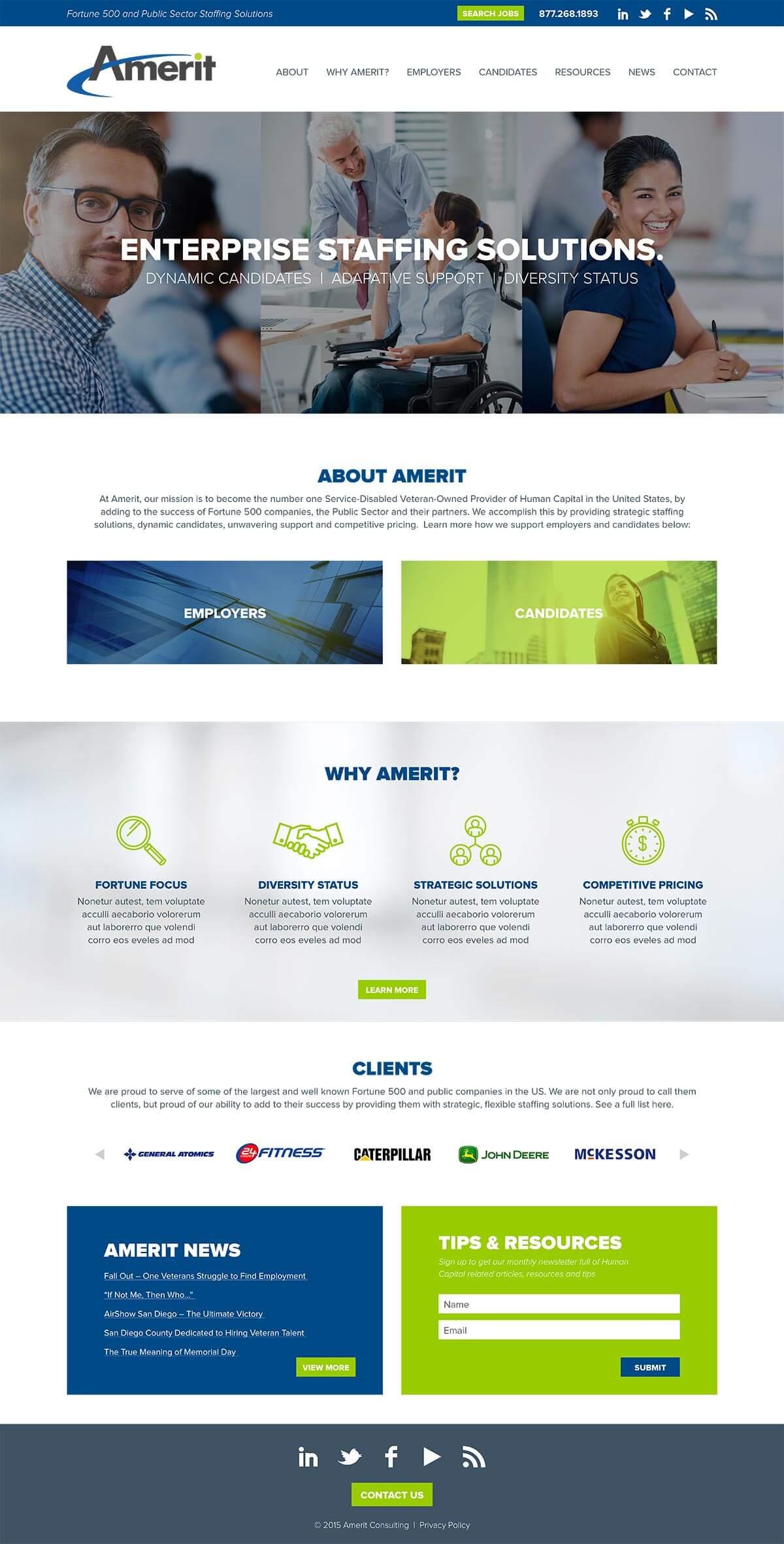 Amerit wesbite home page v1