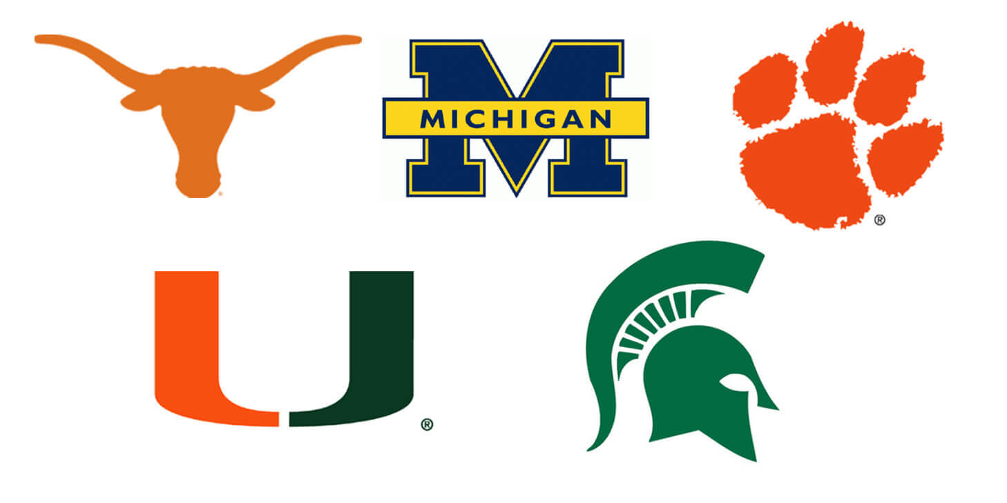 College Football Logo Designs