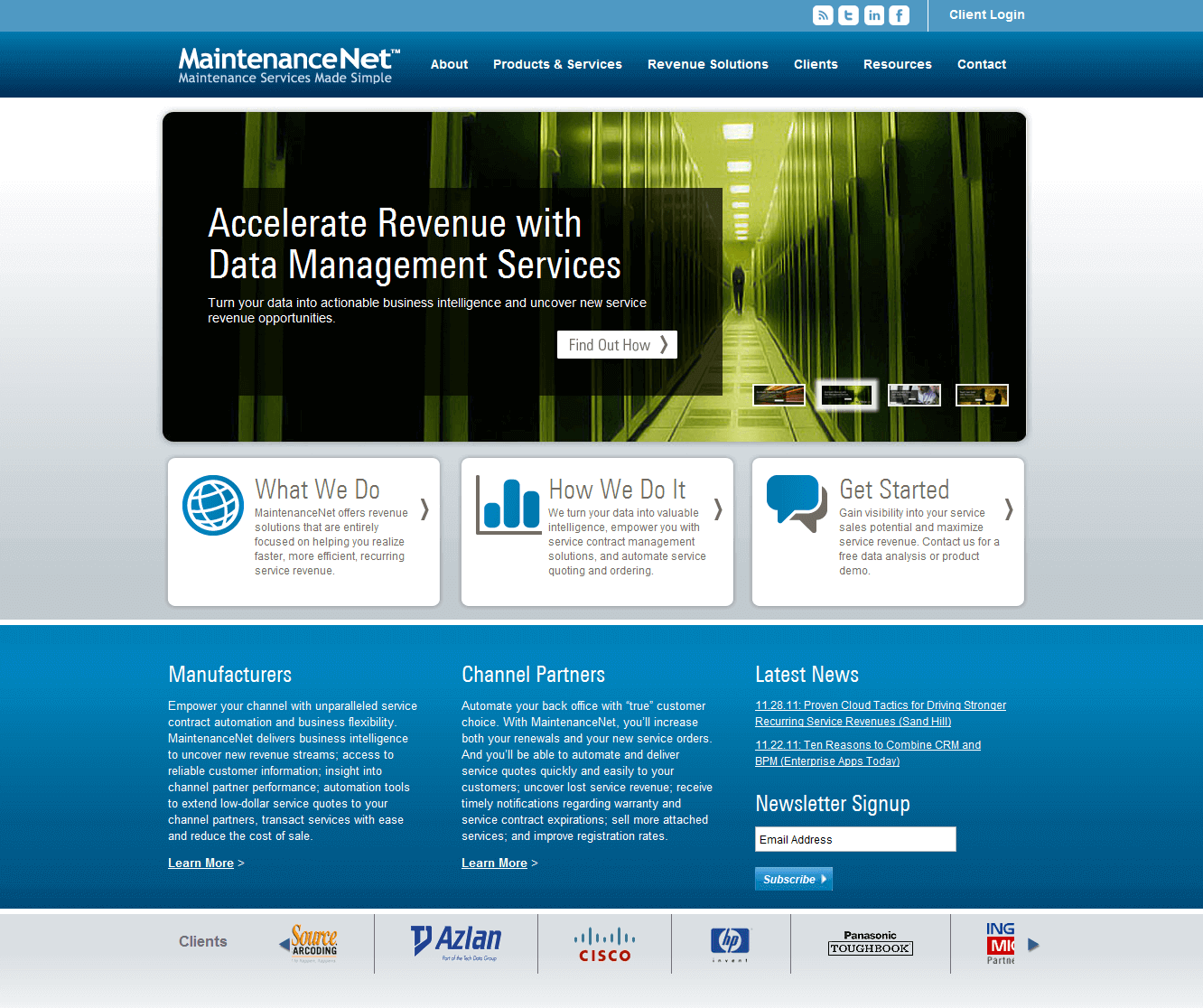 MaintenanceNet Web Design Image