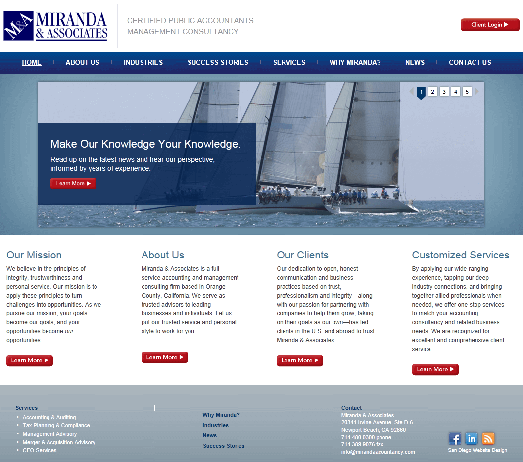 Miranda Associates Website Design