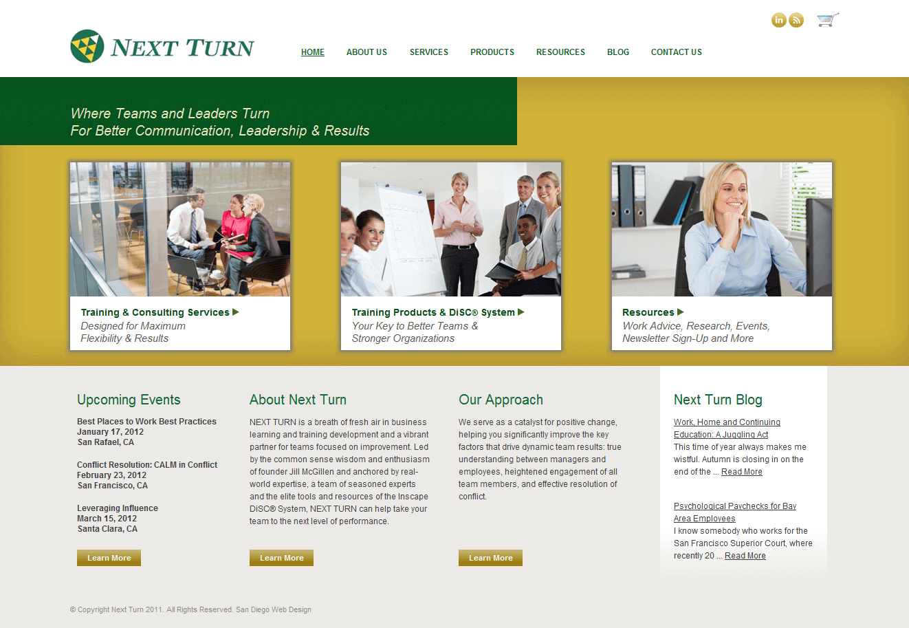 Next Turn Website Design Image
