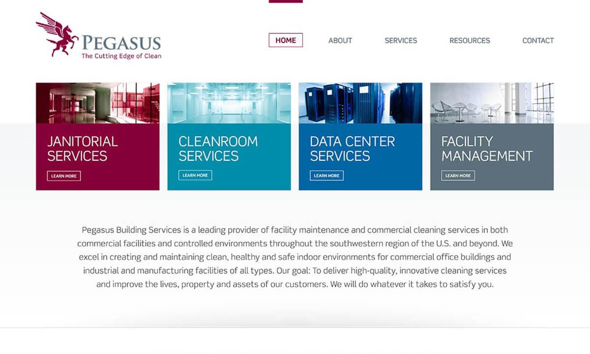 Industrial website design development san diego for Building services design