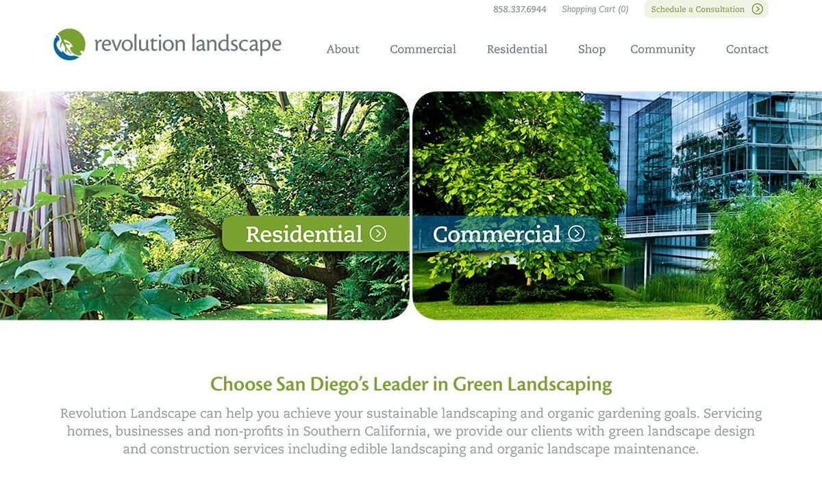 - B2C + B2B Website Design & Marketing For Landscaping Firm