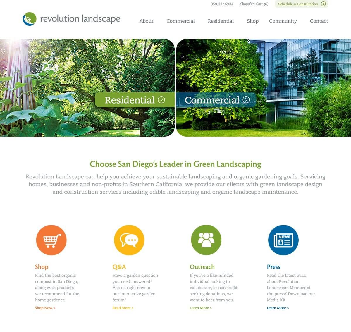 B2C + B2B Website Design & Marketing for Landscaping Firm