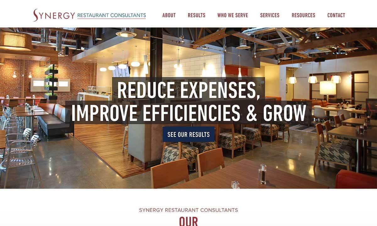 Restaurant consulting firm web design development