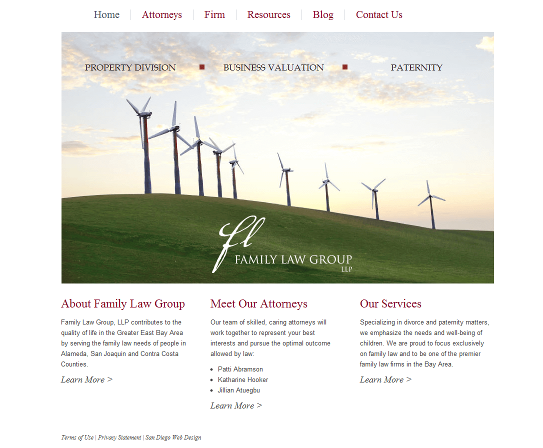 Family Law Group Website