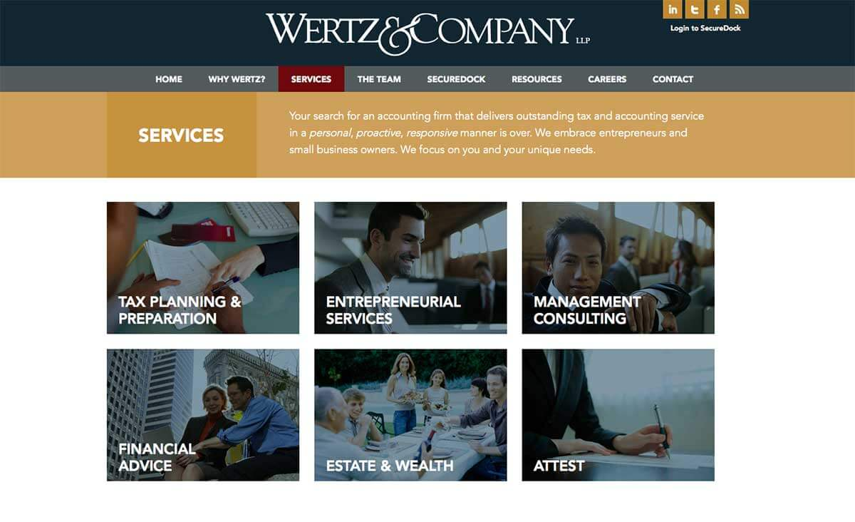 Orange county accounting firm website design development for Architecture firms orange county