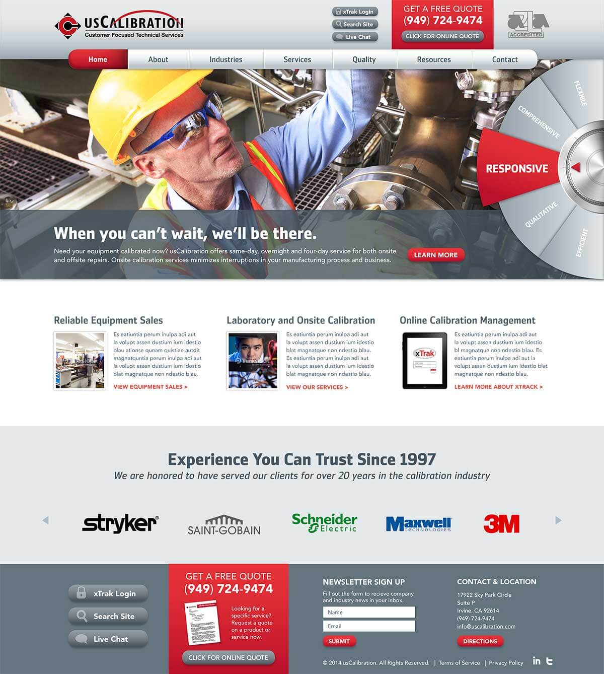 Web design for orange county engineering firm web design for Architecture firms orange county