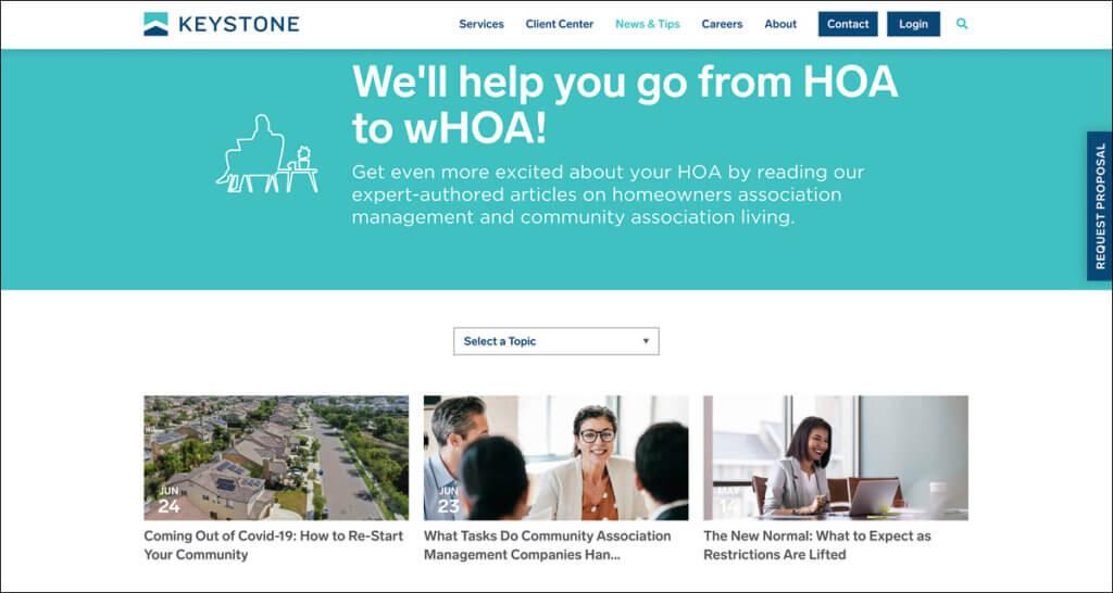 B2B Web Design Highlights Valuable Content