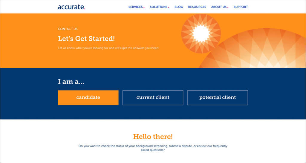 Tiered Contact Web Page Design